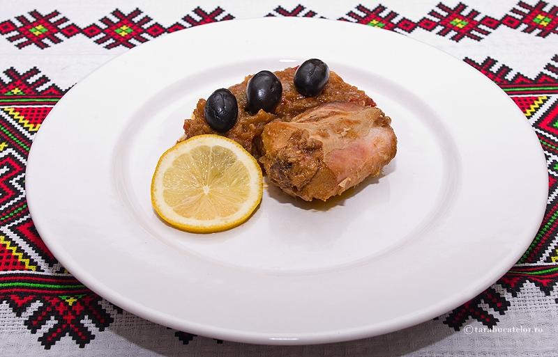 Mancare rece de iepure cu masline