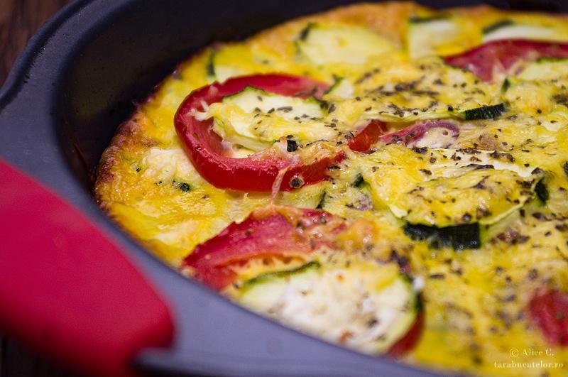 Omleta cu zucchini la cuptor