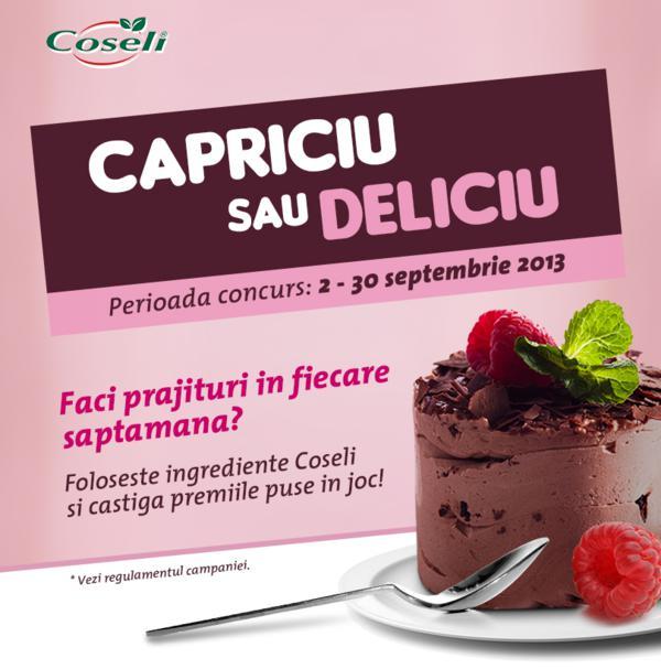 Concurs Capriciu sau Deliciu