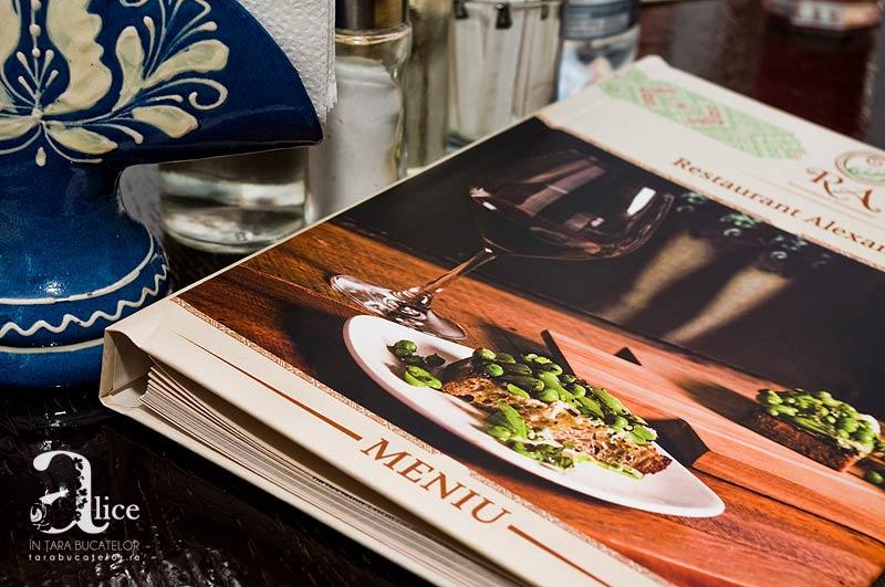 La masa la Restaurant Alexandru