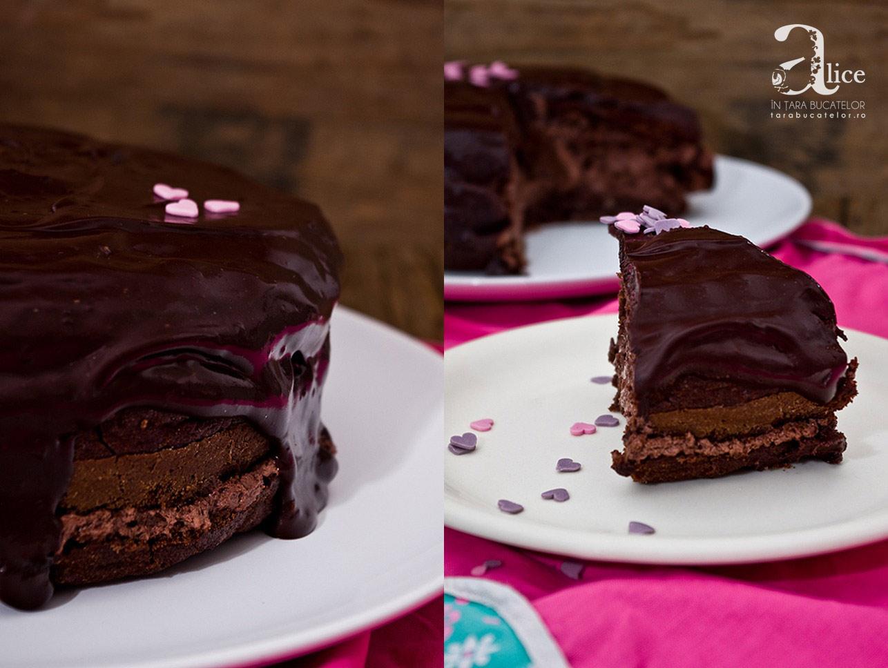 Tort fara gluten cu banane si ciocolata