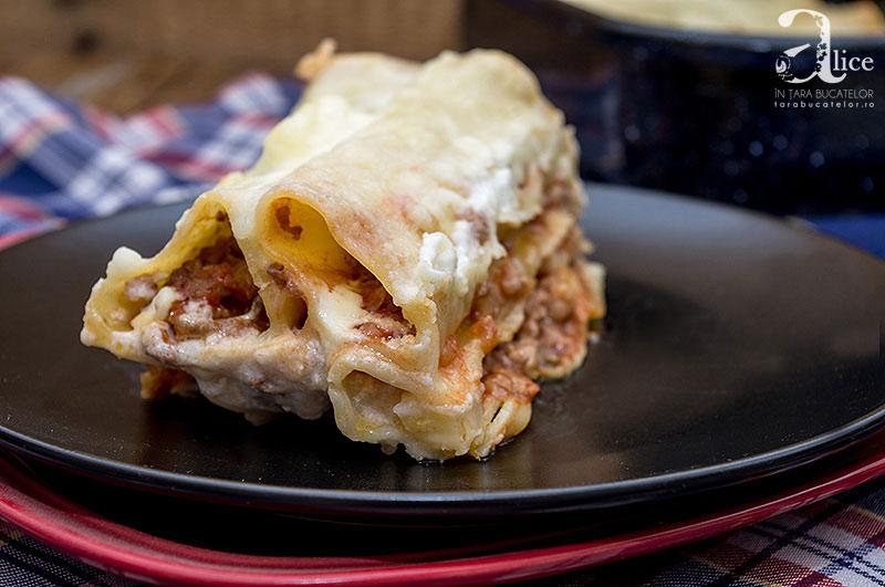 Cannelloni cu carne si ciuperci