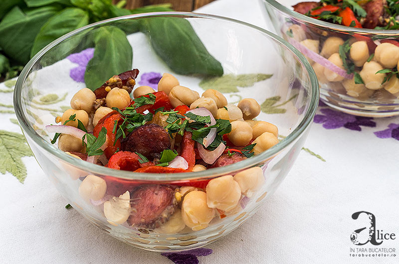 Salata de ardei copti cu naut