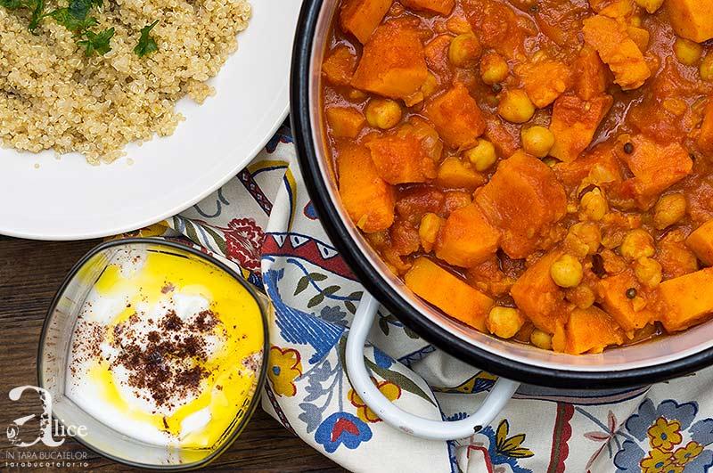 Tocanita marocana cu cartofi dulci si naut