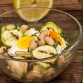 Salata de fasole alba cu dovlecel