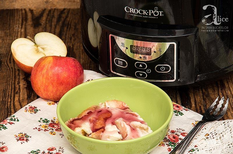 Budinca de gris cu mere la Crock Pot