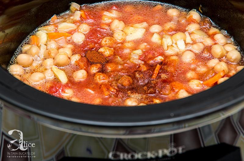 Ciorba de legume si naut la Crock Pot