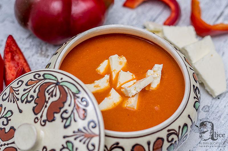 Supa crema de gogosari copti cu naut