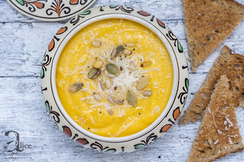 Supa crema de cartofi dulci