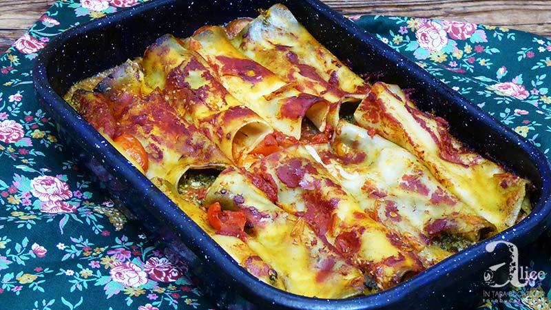 Cannelloni cu branza si spanac