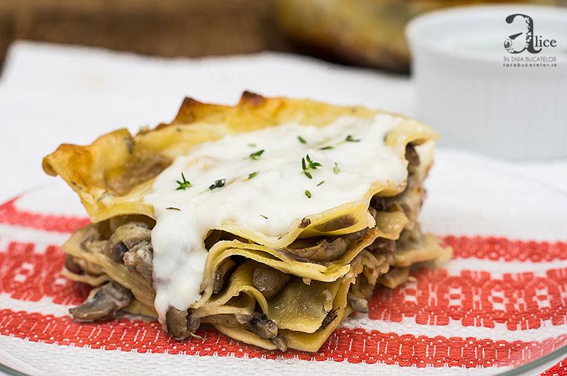 Lasagna cu ciuperci si gorgonzola