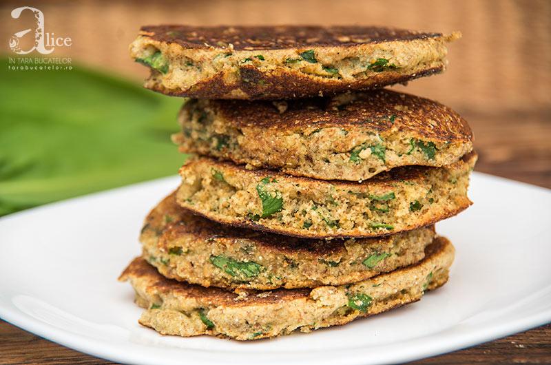 Pancakes vegane cu leurda