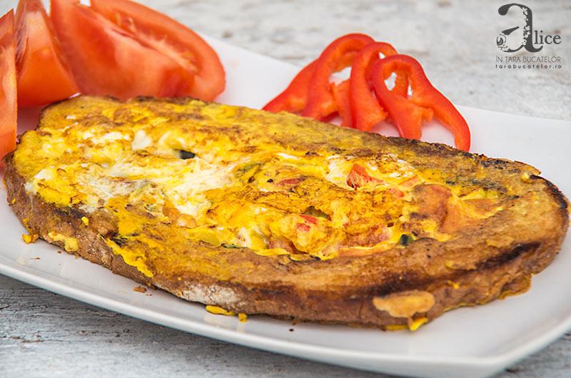 omleta in paine