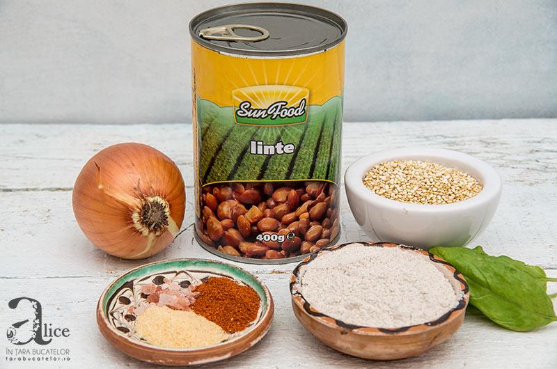 Chiftele de linte si quinoa