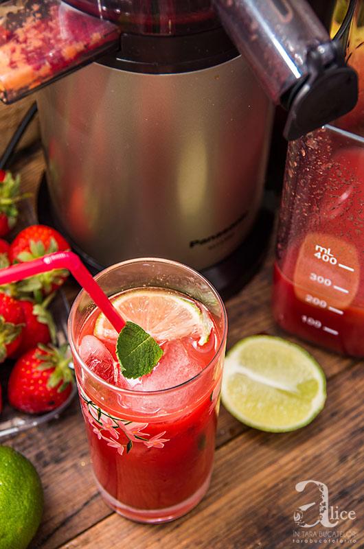 Suc de morcov, sfecla rosie si piersici
