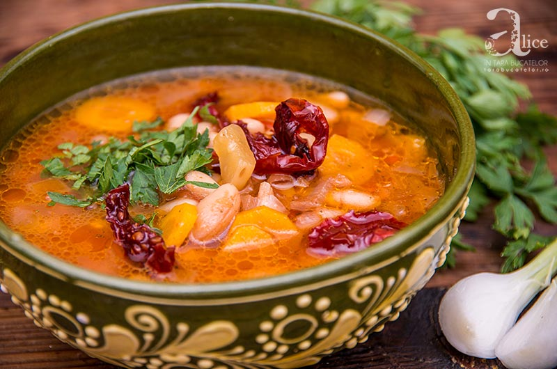 Supa rece de fasole alba