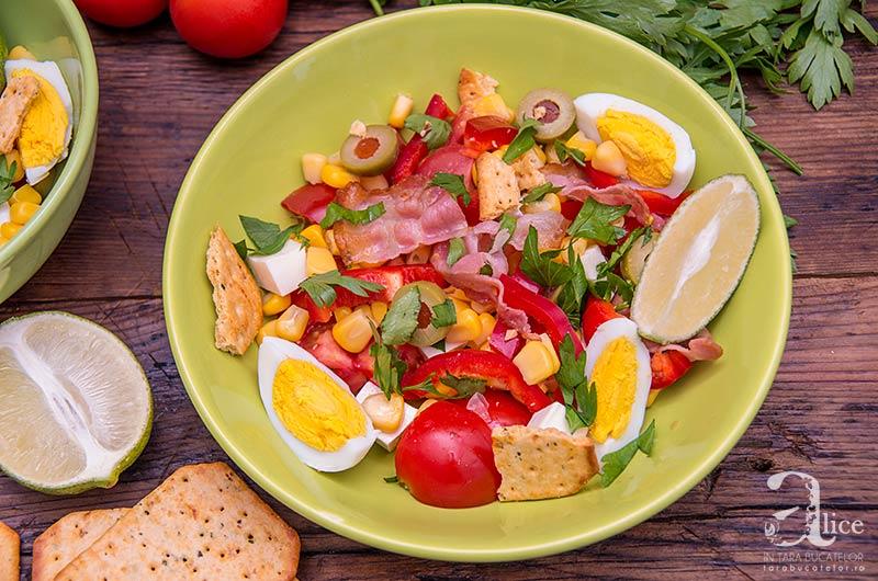 Salata de vara cu ou si porumb
