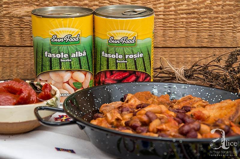 Fasole cu carne de porc la slow cooker