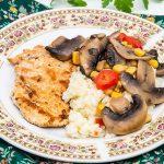 orez cu ciuperci si porumb