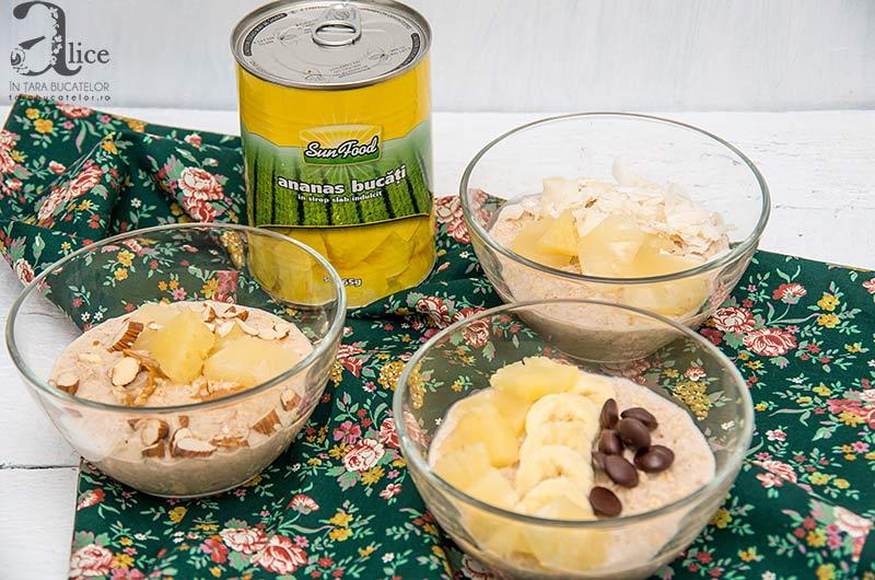 Porridge cu ananas
