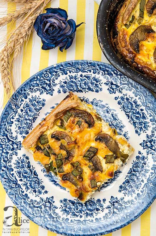 Tarta cu ciuperci si porumb