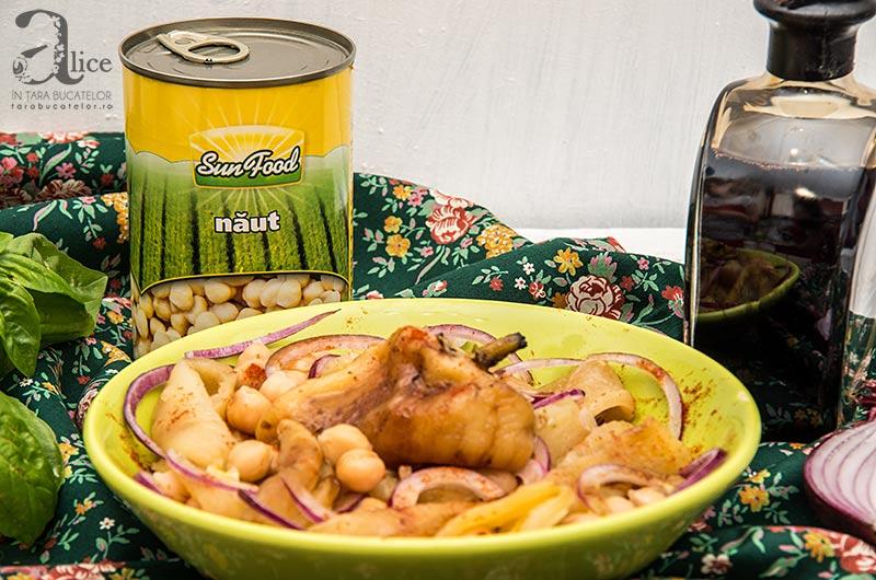 Salata de naut cu ardei copti