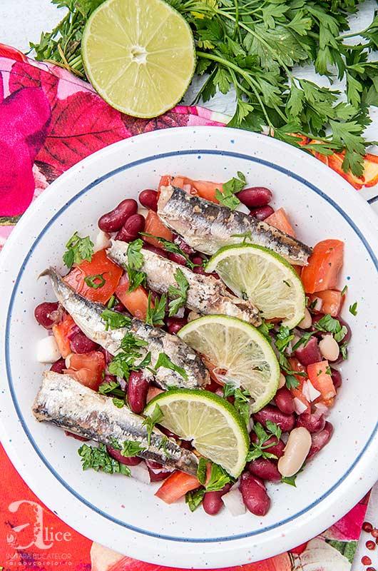 Salata de sardine cu fasole