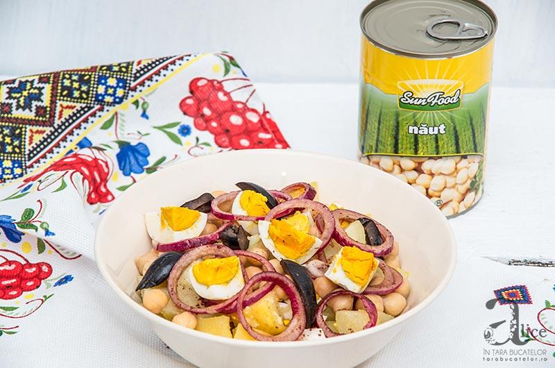 Salata calda de cartofi si naut