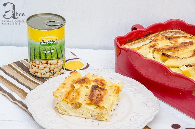 Cannelloni cu branza si naut