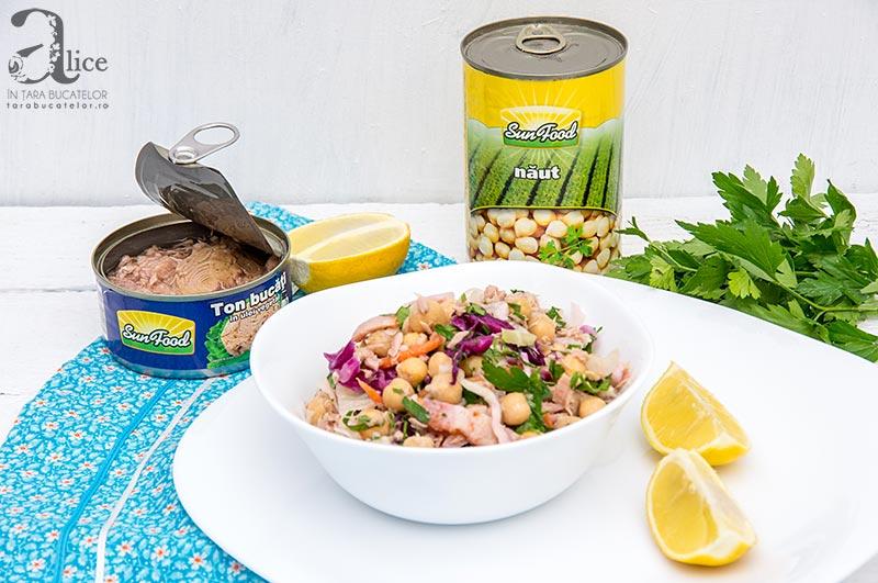 Salata de ton cu naut