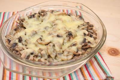 Ciuperci gratinate cu cascaval