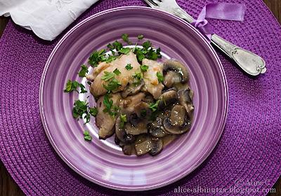 Pui cu ciuperci