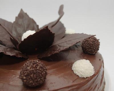 Tort de ciocolata cu crema de trufe