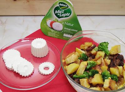 Budinca din cartofi cu miez de lapte