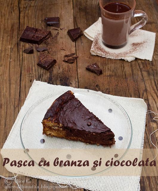 Pasca cu branza si ciocolata